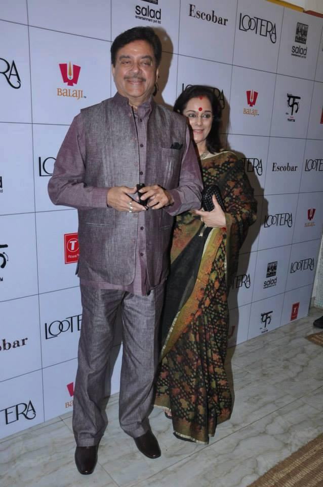 Shatrughan With Wife Poonam Grace Lootera Success Bash