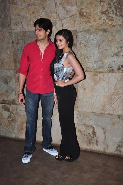 Siddharth And Alia Pose During The Screening Of Ship Of Theseus