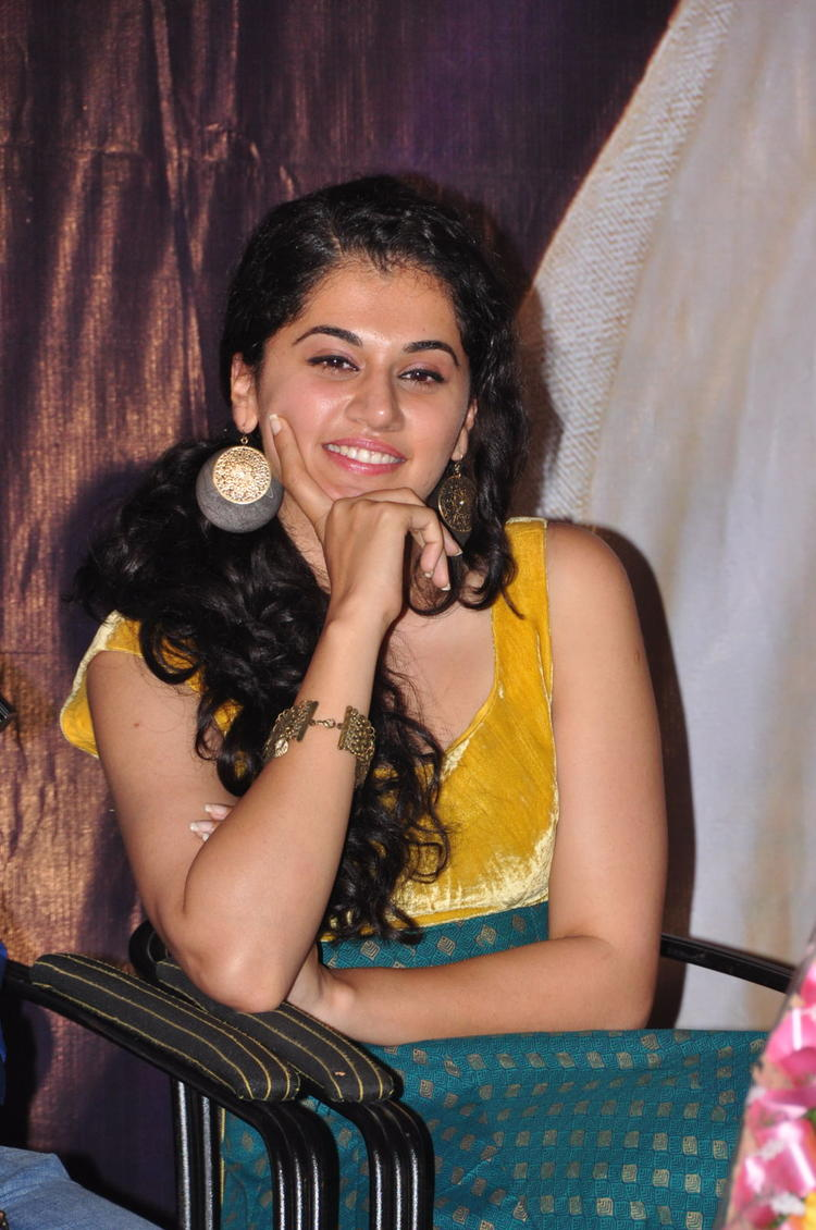 Actress Tapsee at Sahasam Special Show Photo