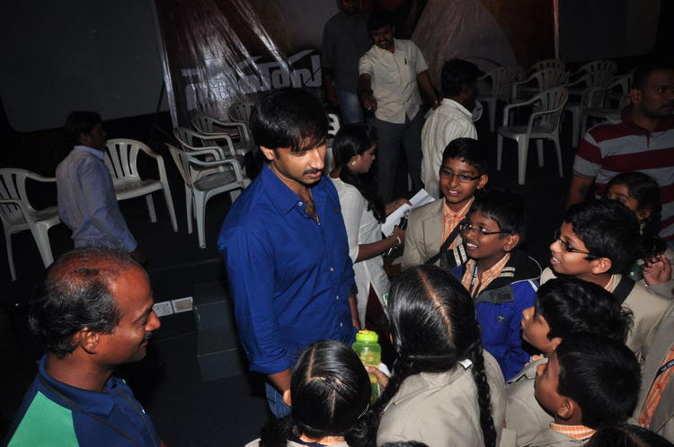 Gopichand Recent Photo At Sahasam Special Screening For School Students