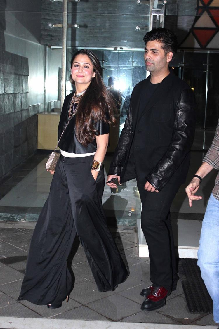 Amrita Arora And Karan Johar Spotted At  Sanjay Kapoors Birthday Party