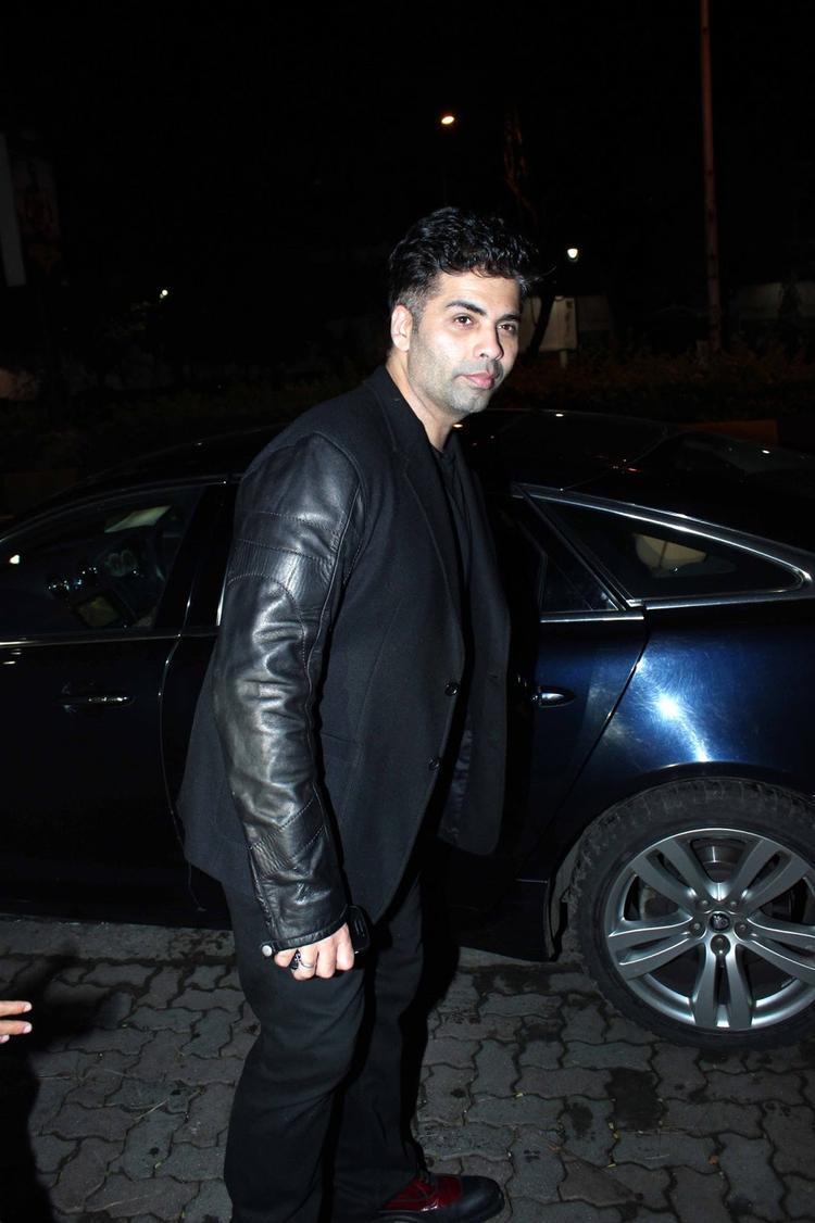 Karan Johar Snapped For Enjoy Sanjay Kapoor Birthday Bash