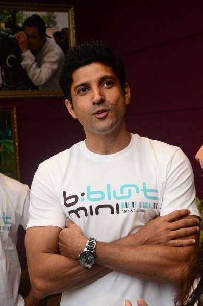 Farhan Akhtar During The Launch Of B:blunt Mini