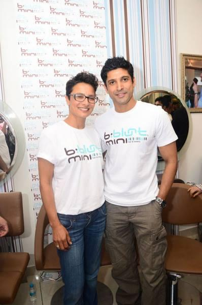 Farhan And Adhuna Pose For Camera At The Launch Of  B:blunt Mini