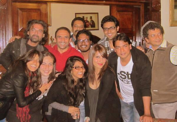 Bipasha Basu And Cast's Pose During The Shooting Set Of Creature
