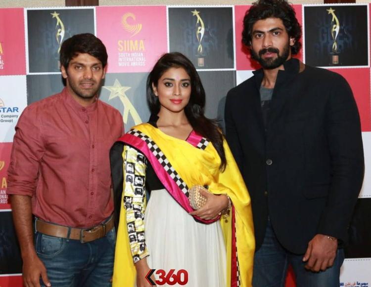 Arya,Shriya And Rana Clicked At 2nd Edition Of SIIMA Awards 2013