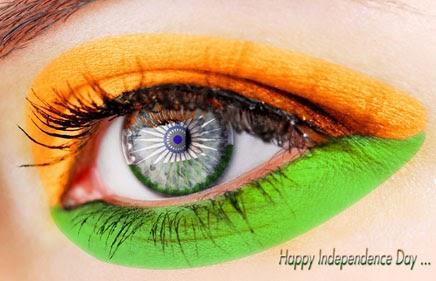 Beautiful Indian Flag Exposing By Eye