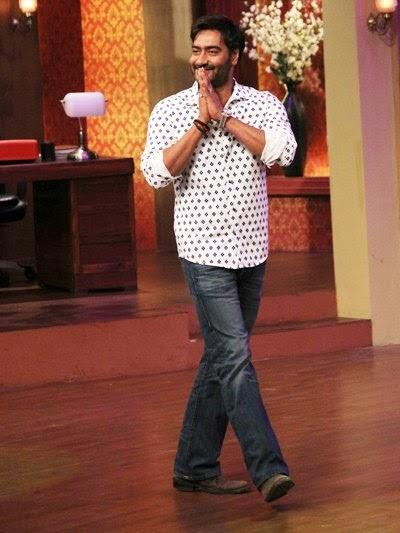 Ajay Devgan Promotes Satyagraha Movie On The Sets Of Comedy Nights With Kapil Show