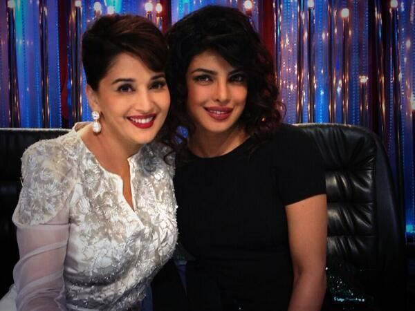 Dancing Expert Madhuri And Priyanka Posed On The Sets Of Jhalak Dikhhla Jaa 6 During The Promotion Of Zanjeer
