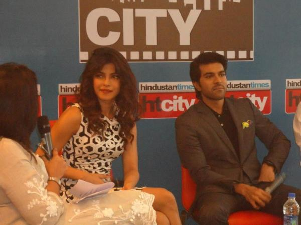 Priyanka And Ram Charan At Hindustan Time's Stars In The City During The Promotion Of Zanjeer