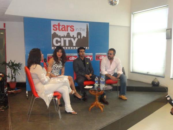 Priyanka And Ram Charan Present During The Promotion Of Zanjeer At Hindustan Time's Stars In The City