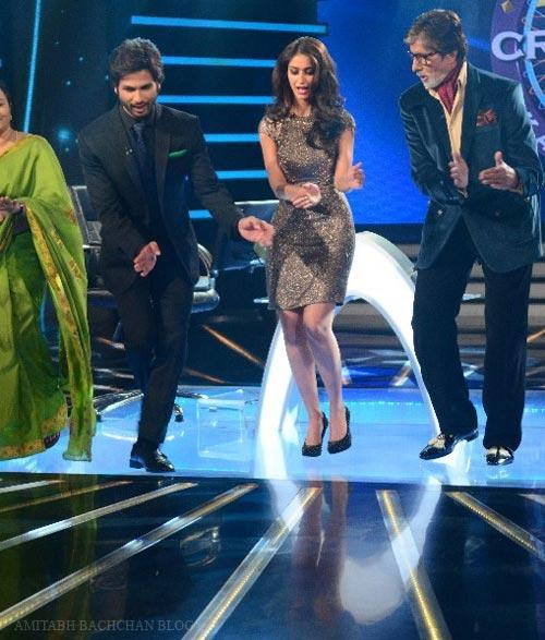 Shahid,Ileana And Amitabh Rocked On The Sets Of KBC Show During The Promotion Of PPNH
