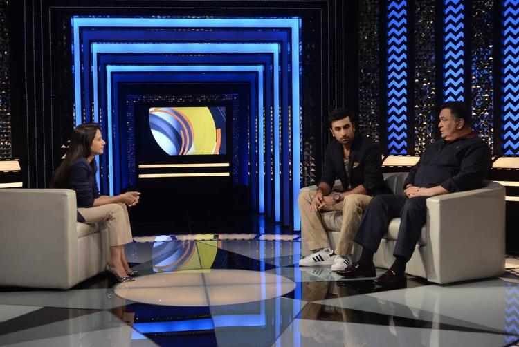 Rishi And Ranbir Promote Their Film Besharam On The Sets Of The Front Row With Anupama Chopra