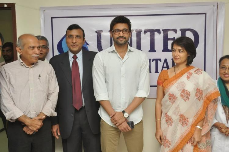 Sumanth And Amala Akkineni Posed During The Launch Of United Hospitals At Madhapur, Hyderabad