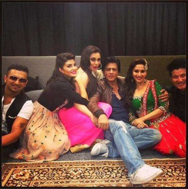 SRK,Madhuri,Rani,Jacqueline,Honey And Meiyang Clicked At Temptations Reloaded 2013 In Sydney