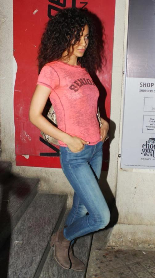 Kangna Ranaut Simple Look In Jeans And Tops At PVR, Mumbai
