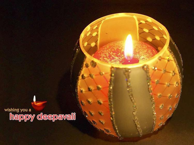 Happy Diwali Full Diya HD Image