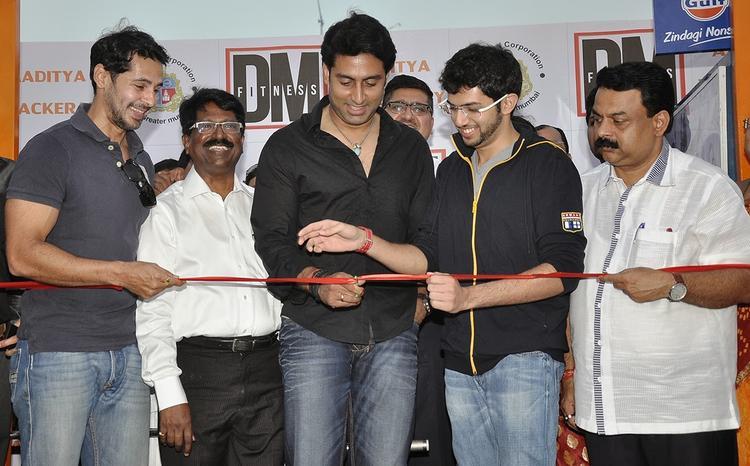 Abhishek Bachchan Inaugurates Dino Morea's DM Fitness