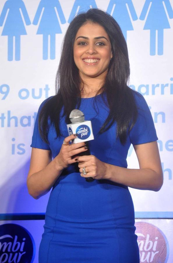 Sweet Bollywood Babe Genelia At Ambi Pur's Refresh Your Love Campaign Launch