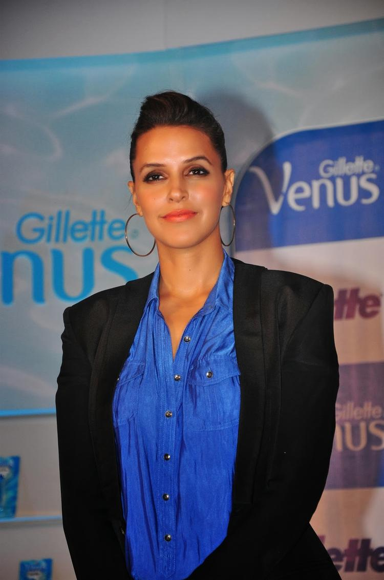 Neha Dhupia Nice Pose During The Gillette Venus Razor Launch Event