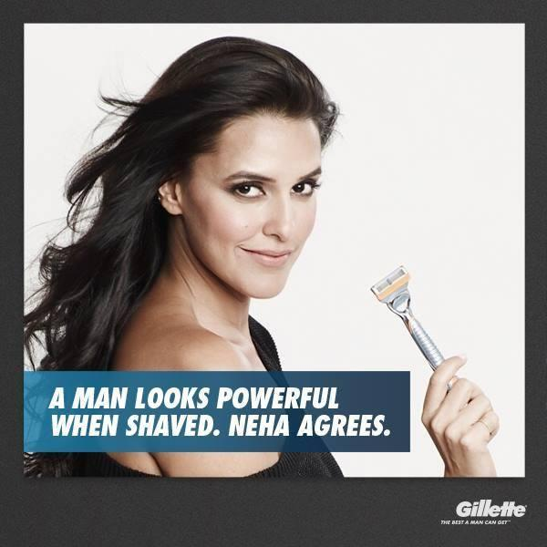 Neha Dhupia Glamour Look Photo Shoot For Gillette Print Ads