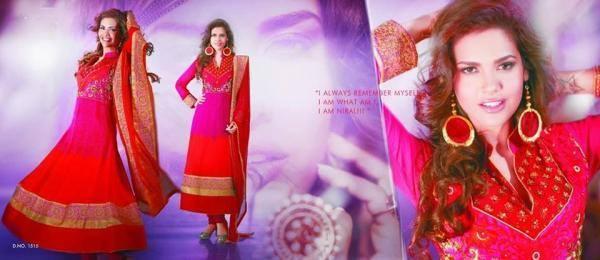 Esha Gupta Red Color Latest Salwar Kameez Photo Shoot