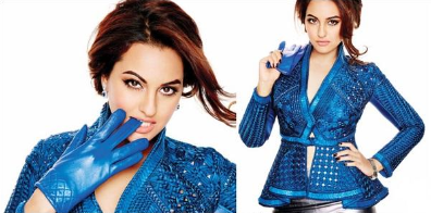 Sonakshi Sinha Spicy Look Photo Shoot On The Cover Of L'Officiel's December Issue 2013
