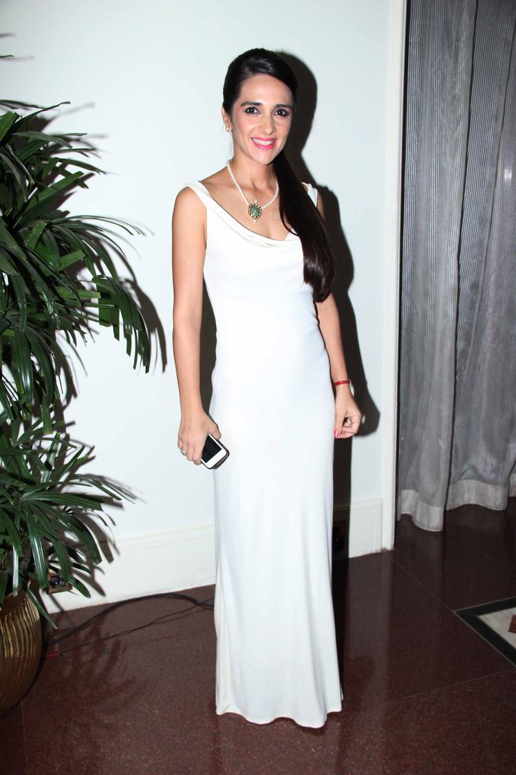 Tara Sharma Spotted At The SCMM Press Conference