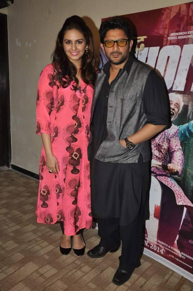 Huma Qureshi And Arshad Warsi Clicked At Mumbai During The Promotion Of Dedh Ishqiya
