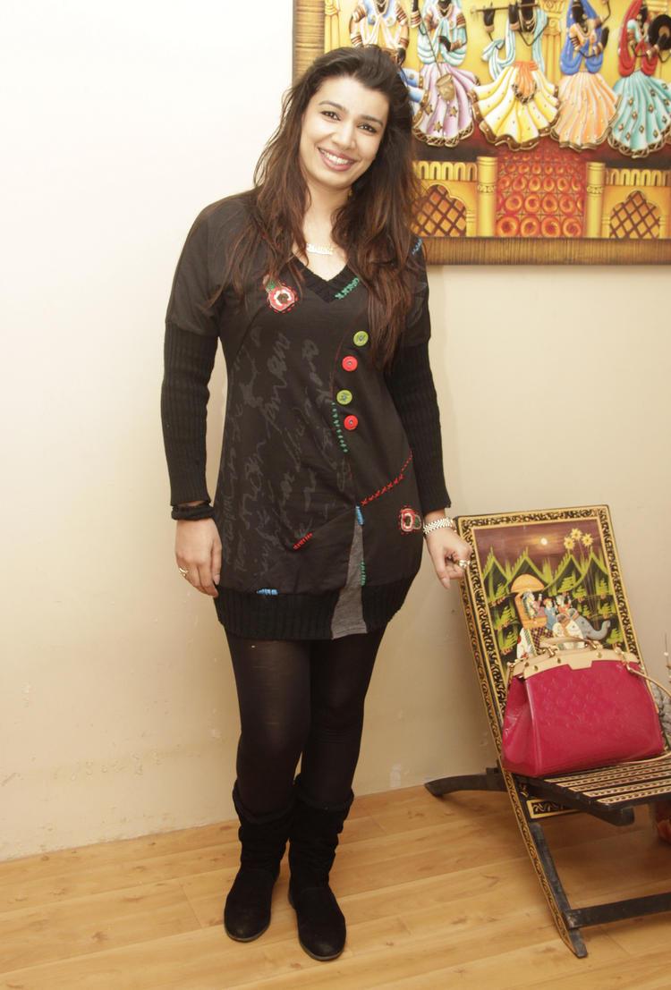 Mink Brar Hot Dazzling Look During The Birthday Bash Of Gurpreet Kaur Chadha