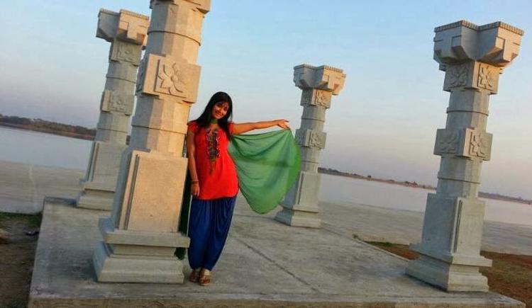 Radhika Pandit Cool Posed On The Sets Of Bahaddur Movie