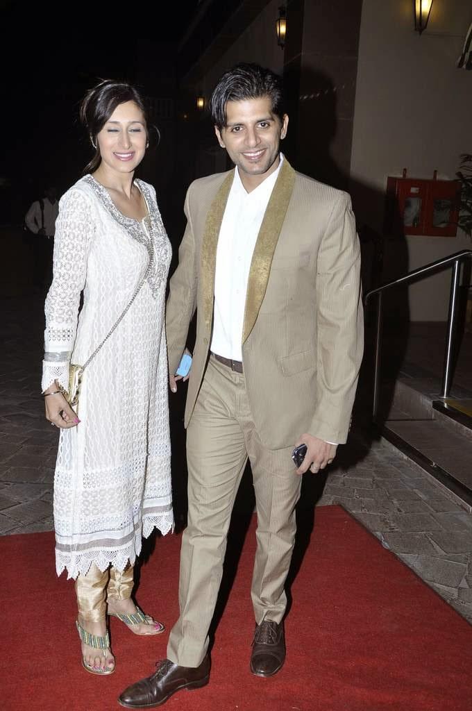 Karanveer Bohra Arrives With Model Wife Teejay Siddhu At Aamna And Amit Wedding Reception