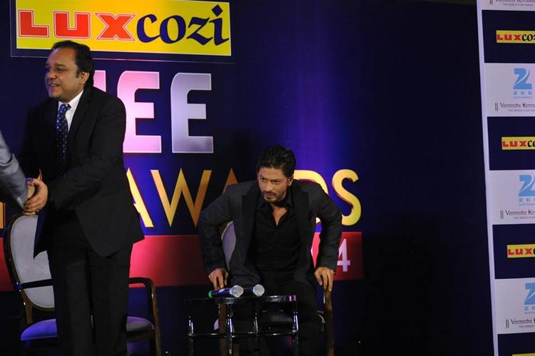 Shahrukh Khan During The Zee Cinema Awards 2014 Press Conference Promotional Event