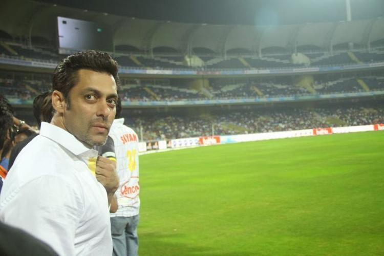 After The Release Of Jai Ho Salman Spotted At CCL Opening Event