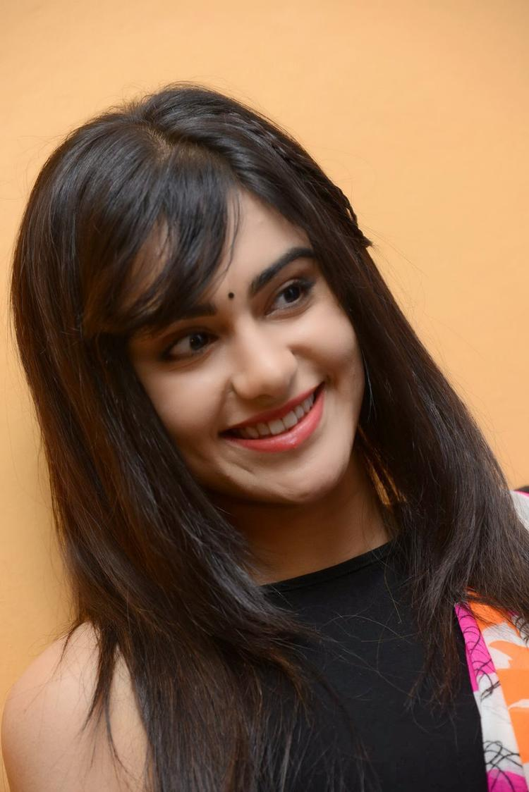 Adah Sharma Cute Face Look During The Heart Attack Audio Success Meet Event