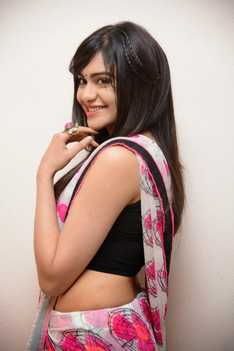 Adah Sharma Smiling Pose At Heart Attack Audio Success Meet Event