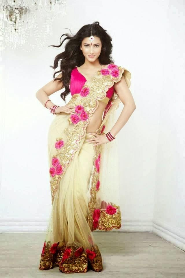 Shruti Haasan Bold Pose Photo Shoot For Kalanjali Ad