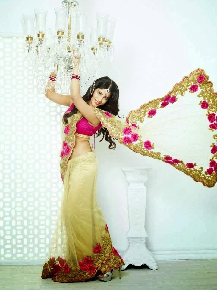 Shruti Haasan Hot And Sexy Look Photo Shoot For Kalanjali Ad