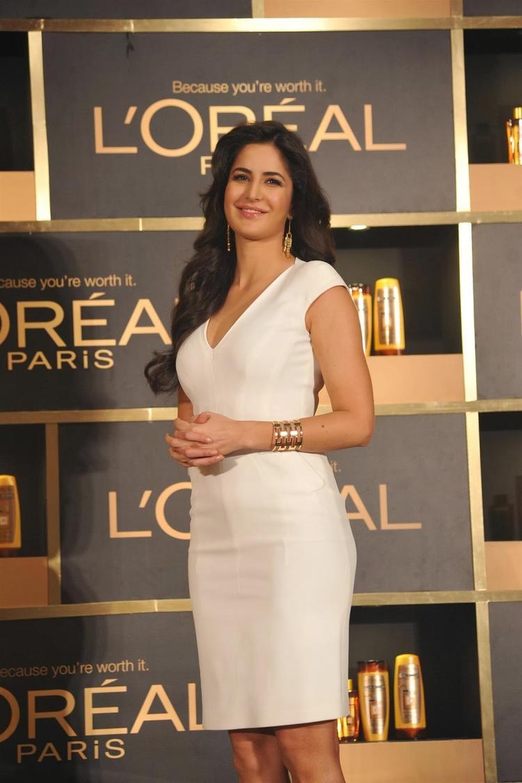 Actress Katrina Kaif Launches L'Oreal's Oil Nourish Products