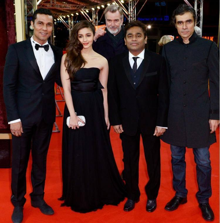 Alia,Randeep,AR Rahman And Imtiaz Ali Walked The Red Carpet At The Premiere Of Highway At The Berlin Film Festival