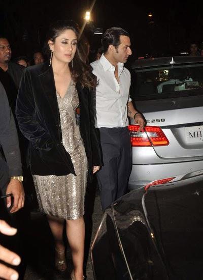 Sweet Couple Kareena And Hubby Saif Present At Randhir Kapoor's Birthday Bash