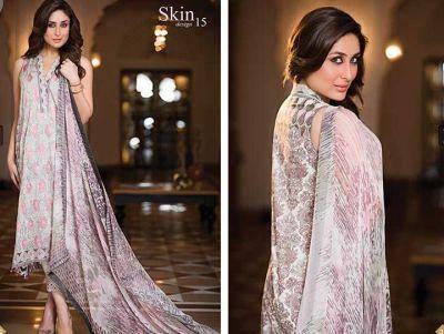 Kareena Kapoor Khan Stunning Look Photo Shoot For Faraz Manan's Crescent Lawn 2014 Collection
