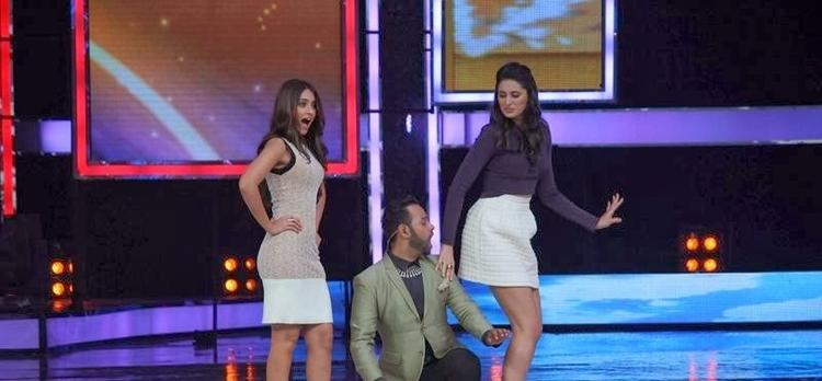 Ileana,VJ Andy And Nargis Performed On The Sets Of India's Got Talent During The Promotion Of Main Tera Hero