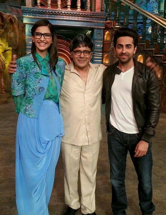 Sonam And Ayushmann For Bewakoofiyaan Promotion At Comedy Circus Ke Mahabali 2