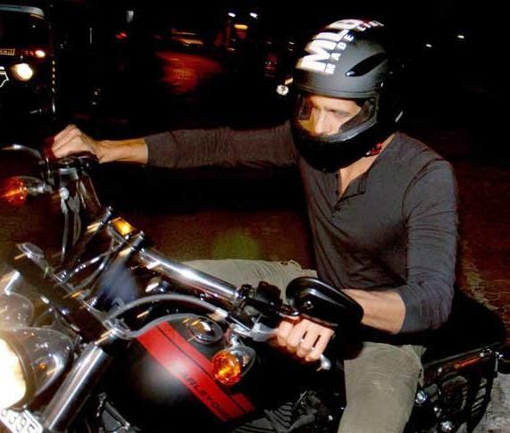 Sidharth Malhotra With Bike Nice Look At Outside Of Karan Johar's House