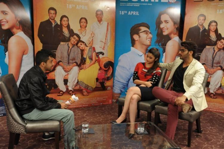 Alia Bhatt And Arjun Interview Pic for 2 States At London