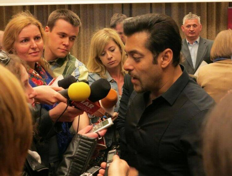 Salman Khan Interact With Poland Media During His Movie Kick Press Conference
