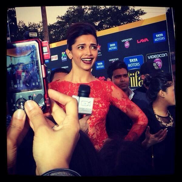 Deepika Padukone Interact With Media At The 15th IIFA 2014 Awards