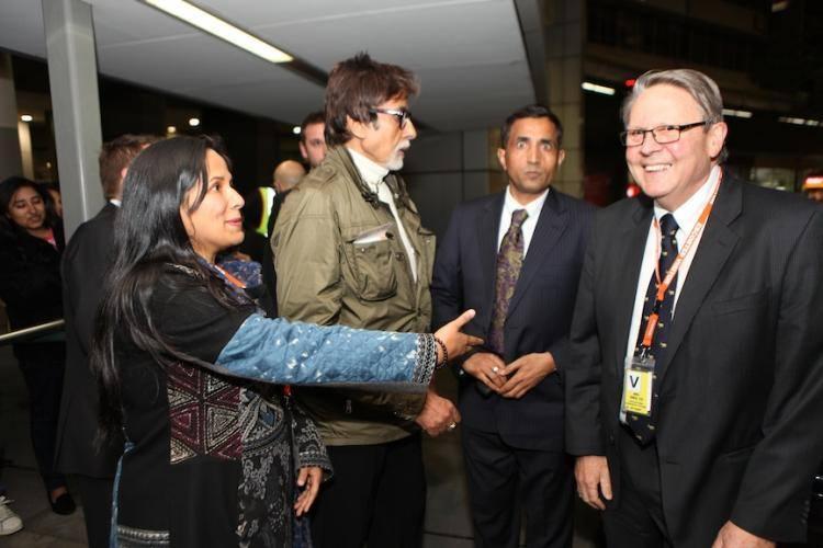 Megastar Amitabh Bachchan Has Reached Melbourne For IFFM 2014