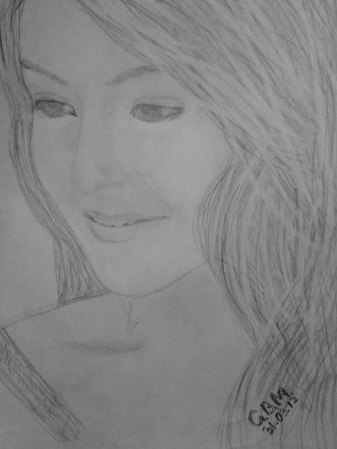 Anushka Sharma - The Innocent Beauty Simple Look Sketched Painting Photo Still